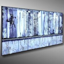 ORIGINAL Acryl Abstrakte Gemälde HANDGEMALT moderne MALEREI KUNST 120x40 - MICO