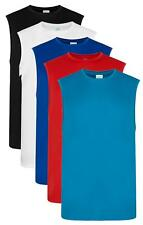 Mens Mans Sleeveless T-Shirt Wicking Polyester Smooth Sports Vest Tank Top