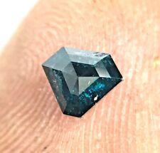 Natural Diamond 0.30TCW Grayish Blue Sparkling Antique Triangle Step Cut Gift
