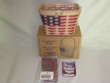 1997 Longaberger Village 20th Century Basket Combo 1st Edition Patriotic America