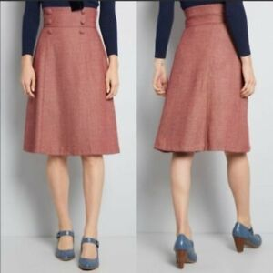 NEW ModCloth Timeless Elements High-Waist Skirt Sz L Retail $89