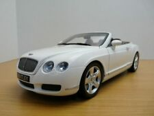 BENTLEY CONTINENTAL GTC cabriolet blanc  1/18