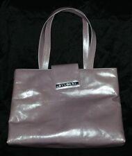 BVLGARI Tote Logo Shoulder Bag Leather Lavender Plum L@@K Authentic