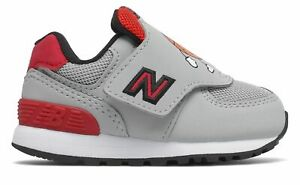 New Balance Infant 574 Shoes Grey with Red