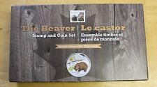 2014 $20 Fine silver coin Baby Animals, The Beaver Stamps and Coin set