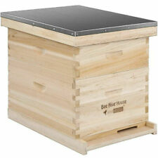 Vivohome Wooden 20 Frames Langstroth Honey Bee Hive Box with Metal Roof