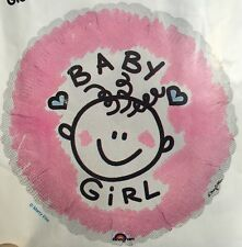 "Baby Girl - Pink Foil Balloon  18"" - New Baby"