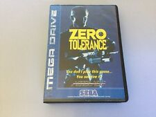 Sega Megadrive Zero Tolerance Boxed W/ Manual Good Cond