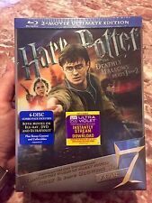 Harry Potter & The Deathly Hallows Parts 1&2 Ultimate Edition Blu-Ray 6-Disc NEW