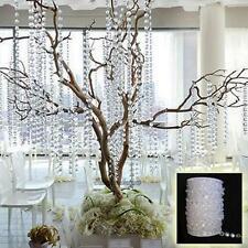 33FT Garland Diamond Acrylic Crystal Bead Beaded Curtain Wedding DIY Party Decor