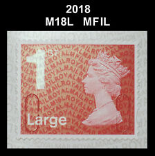 2018 - 1st Large - M18L - MFIL  Single Stamp from 4x1st booklet on SBP2i Paper