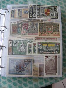 Deutschland  Germany 1040  Notgeldscheine  Kleine Notgeld  Sammlung   A - Z