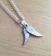 Double collier pendentif ailes d'ange bijoux guérison reiki cadeau nouvel âge
