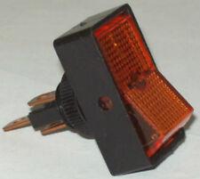 Calterm Automotive SPST On Off Amber Glow Jumbo Rocker Switch 40370