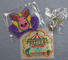 Disney Treasures PIGLET PIN Thumper PATCH Festival of Friends Funko BRAND NEW