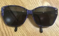 0592815ef05 Vintage RARE Luxottica 1427 Retro Sunglasses RX Lenses Marble Blue Frame  Italy