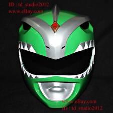 1:1 Halloween Costume Cosplay Mask Green Dino Thunder Power Ranger Helmet PR08