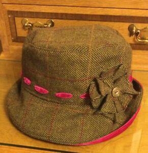 Boo Designer Cloche Hat Ladies Tweed Handmade By Sophie Kathalina