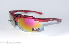 Metallic Jade Yellow Sunglasses, Candy Red Frame