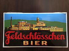 FELDSCHLÖSSCHEN Bier beer biere birra Schweiz Emailleschild Emailschild Enamel