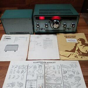 Heathkit HR-1680 SSB/CW Ham Receiver 80-10 Meters & HS-1661 Speaker + Manuals