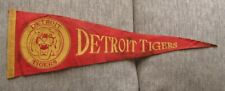 >orig. 1950's-60's/Scarce? 26 x 9 DETROIT TIGERS BASEBALL PENNANT Stains/Wear