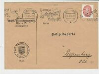 Germany 1934 Luftpost Aeroplane Slogan Cancel Stamps Cover ref 22310