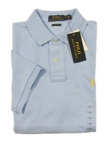 Polo Ralph Lauren Men's Light Blue Classic Fit Mesh Short Sleeve Polo Shirt