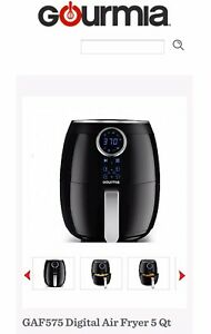 Gourmia Digital Air Fryer with AeroCrisp Technology up to 80% LESS FAT