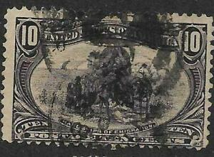 xsc688 Scott 290 US Stamp 1898 10c Hardships of Emigration Used