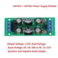 LM7815+LM7915±15V dual voltage regulator rectifier bridge power supply module IJ