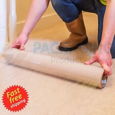 Carpet Floor Protection Self Adhesive Protector Clear Roll Cover Dust Sheet Film
