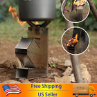 Detachable Camping Rocket Stove Outdoor Burners Collapsible Wood Burning Stove photo