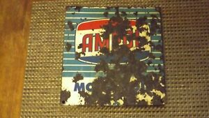 AMPOL OIL SIGN 23 CM X 22 CM CIRC 1956 Age 64 Years QUEENSLAND RURAL Suit Disply