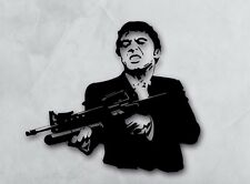 Vinyl Decal Wall Sticker Scarface Gangster Movie Film Gunman Weapon (ig1678)