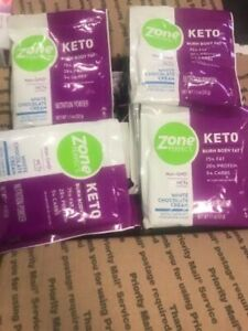 8 - 5 ct ZonePerfect Keto Powder 40 Total- WHITE CHOCOLATE CREAM - BB 06/01/2020