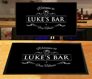 Personalised Bar mat with your name Beer Label Pubs & Clubs Cocktail Home Bar
