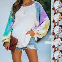 Women's Printing Loose Tops Ladies Casual Sweater Long Sleeve T-Shirts Top Tee