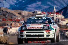 Didier Auriol Toyota Celica Turbo 4WD Winner Monte Carlo Rally 1993 Photograph 3