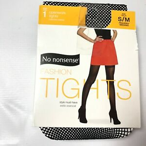 No Nonsense Fashion Open Work Black Fishnet Tights Size S/M Women Lace New