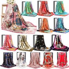 "Fashion Womens Square Satin Silk Scarf Scarves Bandanas Head Wrap Shawl 35*35"""