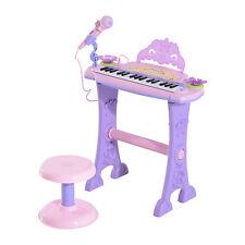 Niña Niños Rosa electrónico teclado de Piano Con Taburete Micrófono Mp3 88024a