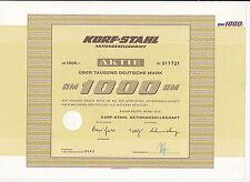 Korf-acciaio Aktiengesellschaft DM 1000-Baden-Baden, 1972