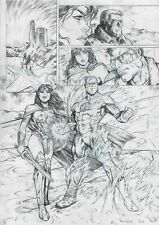 Wonder Woman and Green Lantern - Original Page - Sergi Domenech - Original Art