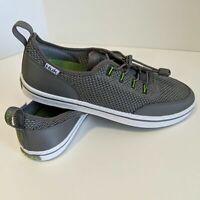 HUK Mania Performance Fishing Boat Shoes sz 10 Men's Gray/Green NEW H80133000