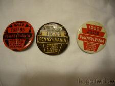 3 Vintage Pennsylvania Fishing Licenses 47-50-53