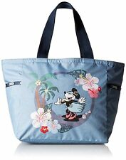 NWT LeSportsac Disney Minnie Sing and Sway Blue Picture Tote Floral Hawaii Theme