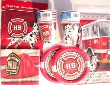 FIRE TRUCK PARTY Birthday Party Supply Set Pack Kit for 16 w/ Loot Bags