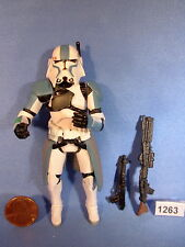 """Star Wars 2005 CLONE COMMANDER with QUICK DRAW ATTACK 3.75"""" figure COMPLETE"""