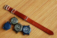Atelier Du Cuir Leather nato watch band maroon color ( 18, 20, 22, 24&26mm)